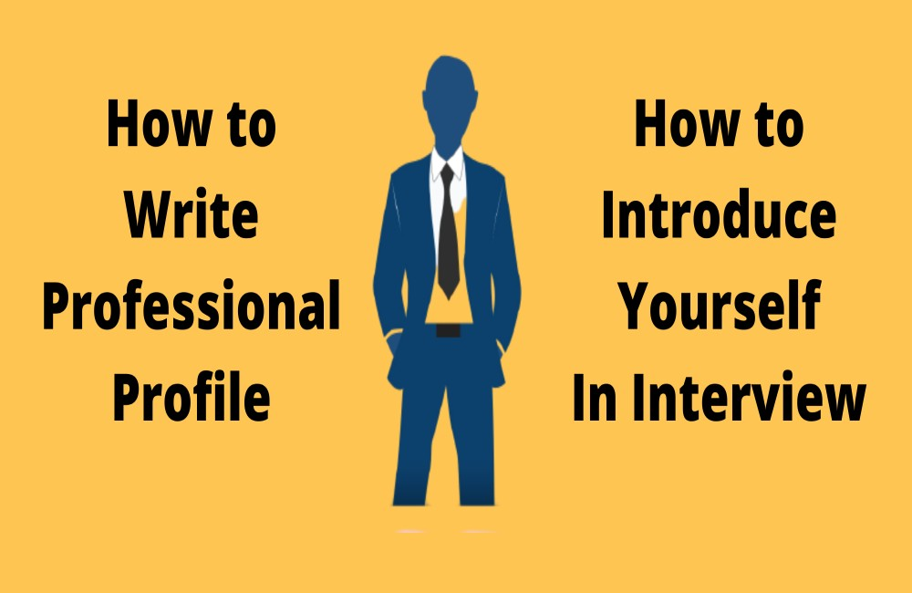how to write effective professional profile-how to introduce yourself in an interview-brief profile-bilal-says-ashraf-elevator pitch
