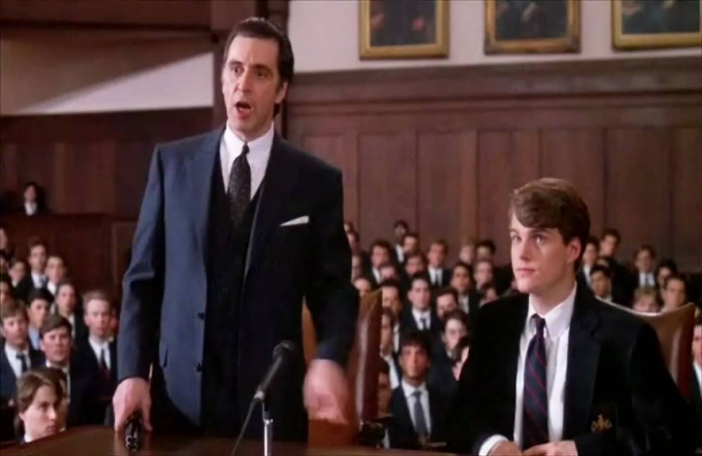 scent of a woman court room scene-leadership role- court room speech