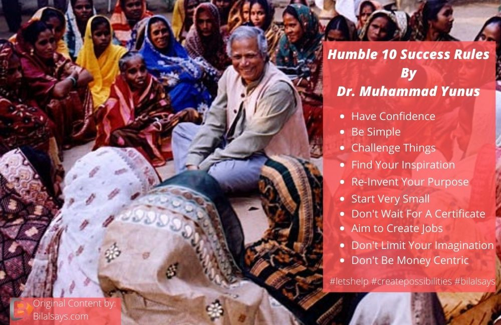 dr muhammad yunus-founder of grameen bank-top success rules-noble laureate-noble peace price-business role model-bangladeshi noble peace price winner