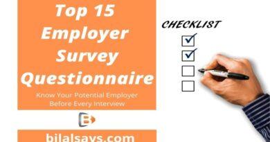 Employer Survey Questionnaire- Interview Technique & Skills- bilal-ashraf-says
