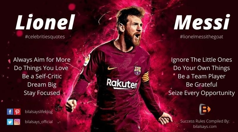 Lionel Messi-Success Rules & Quotes-Celebrity Quotes